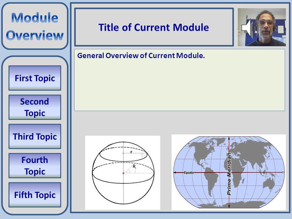 M0_01 Modules 01 Collect Latitude, Longitude, Elevation data Convert data to Cartesian (X,Y,Z) format Interpolate data to create a regular grid Create Third Topic Determine Fourth Topic Interpolate data to create a regular grid