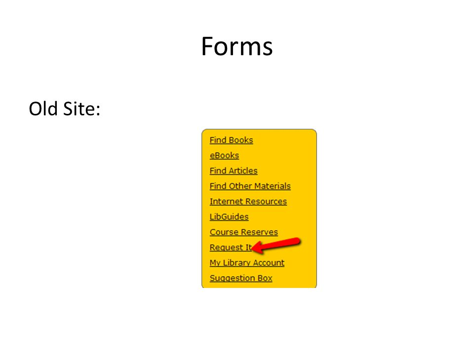 Forms Old Site: