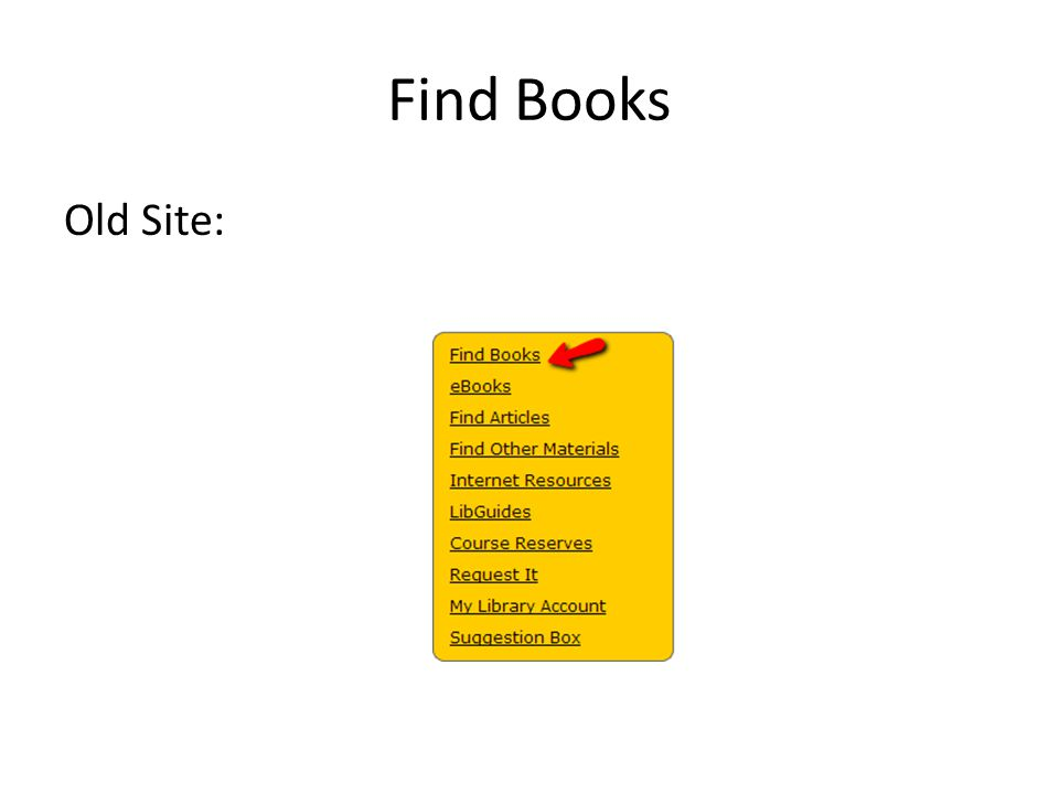 Find Books Old Site:
