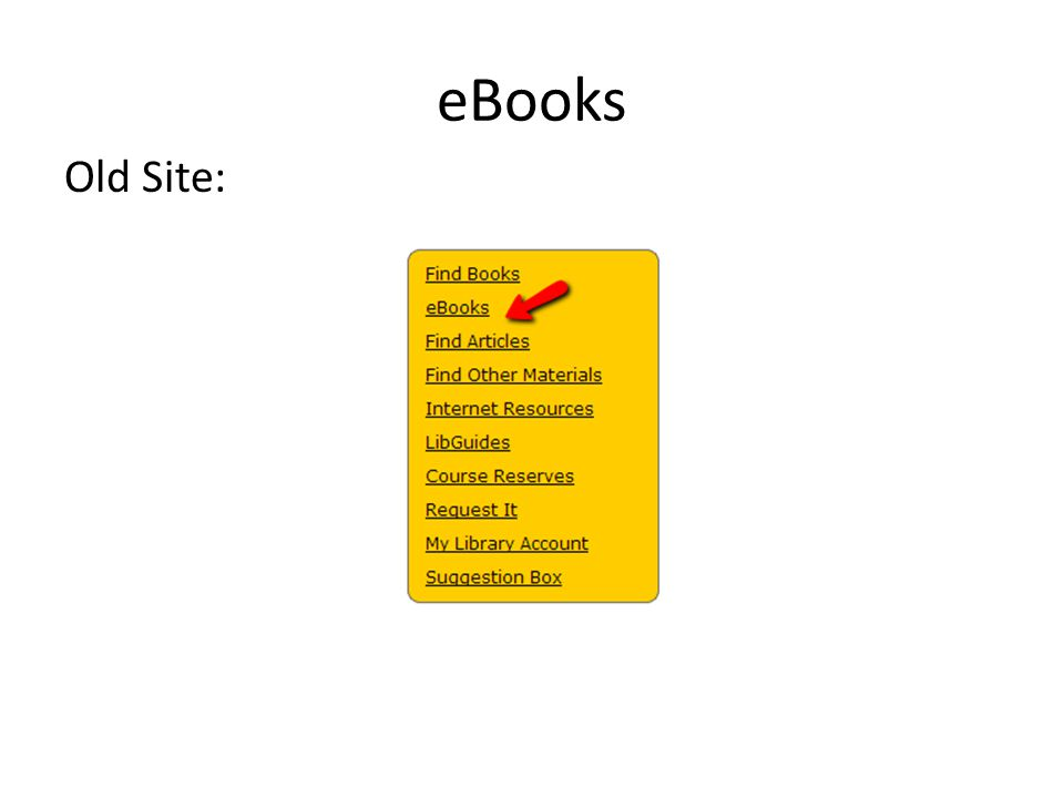 eBooks Old Site:
