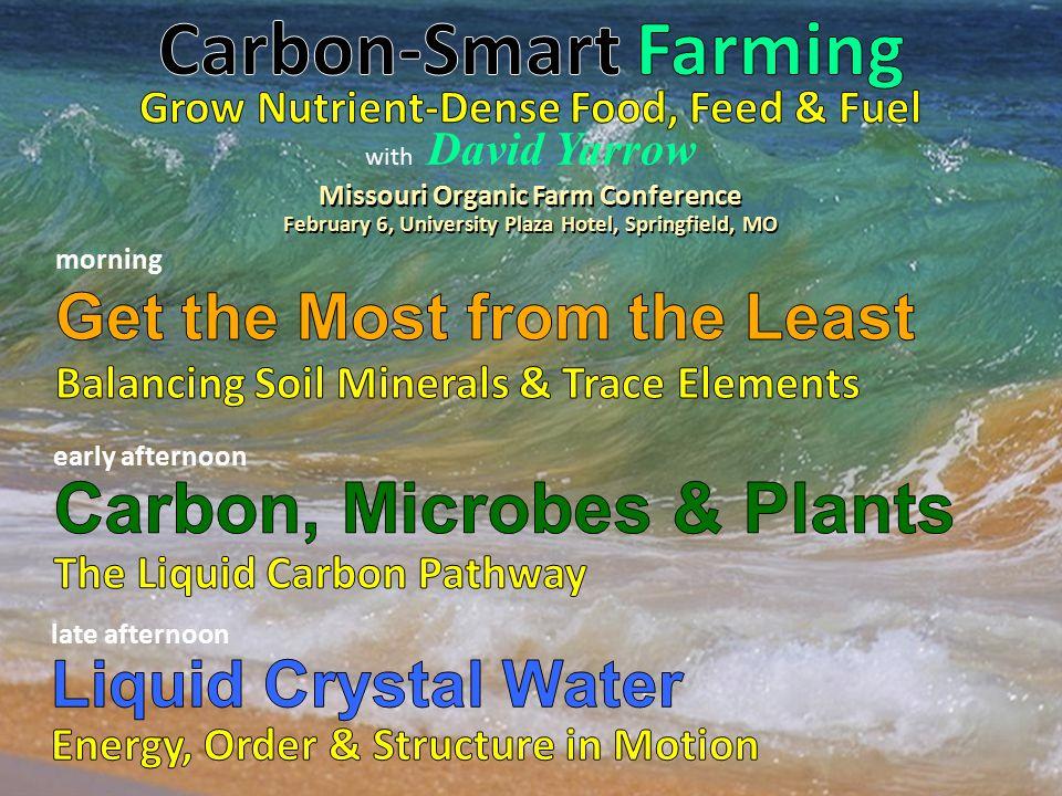 with David Yarrow Missouri Organic Farm Conference February 6, University Plaza Hotel, Springfield, MO