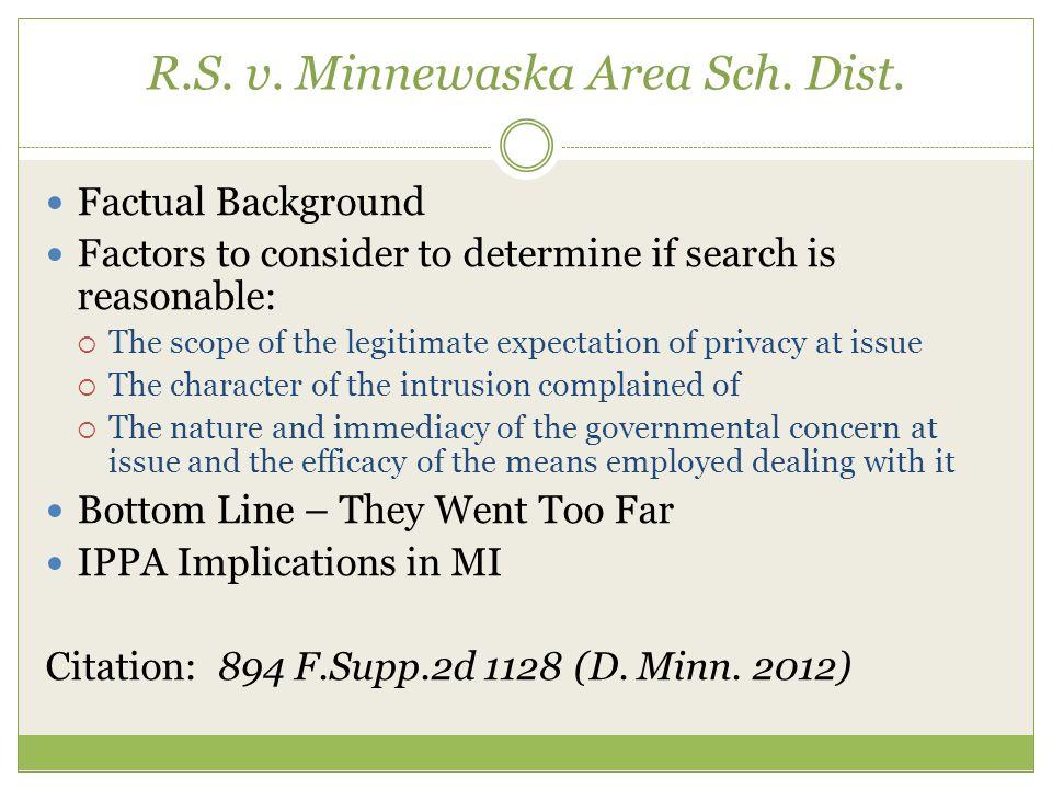 R.S. v. Minnewaska Area Sch. Dist.