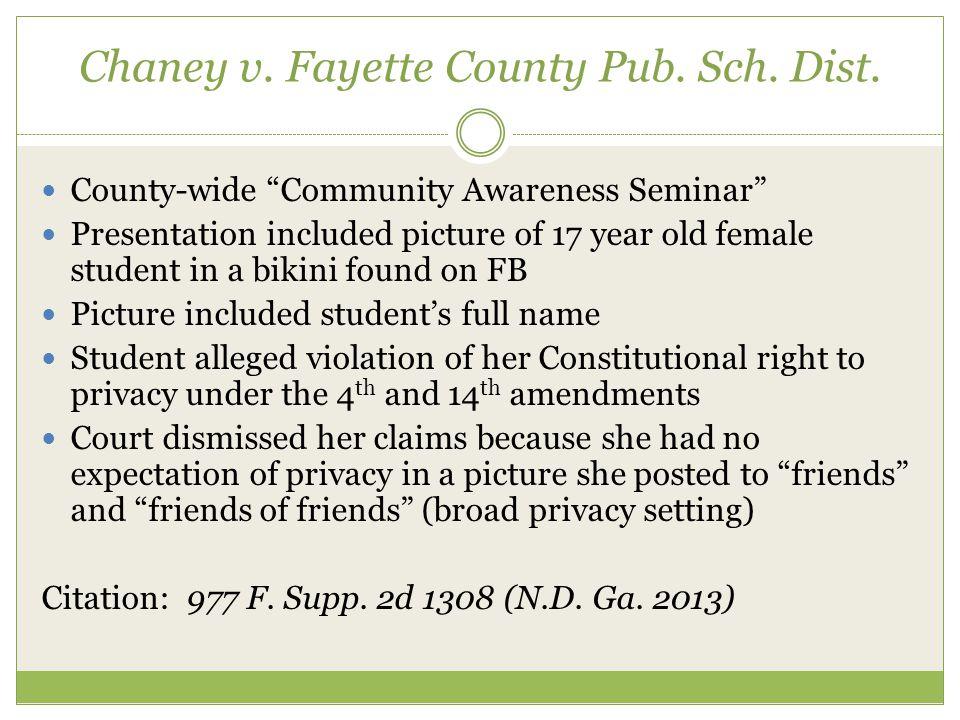 Chaney v. Fayette County Pub. Sch. Dist.