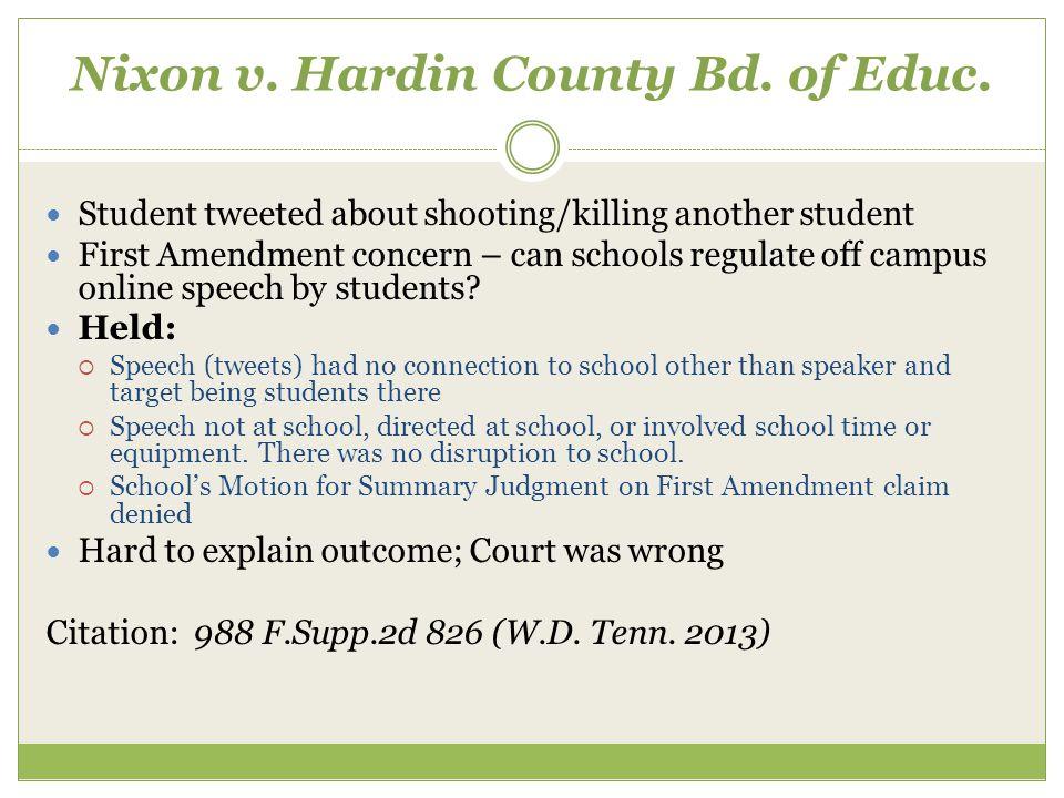Nixon v. Hardin County Bd. of Educ.
