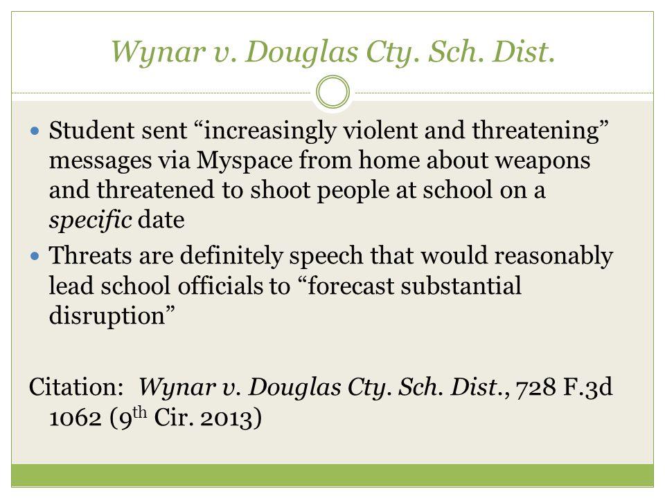 Wynar v. Douglas Cty. Sch. Dist.