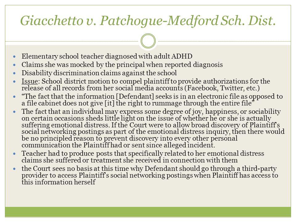 Giacchetto v. Patchogue-Medford Sch. Dist.