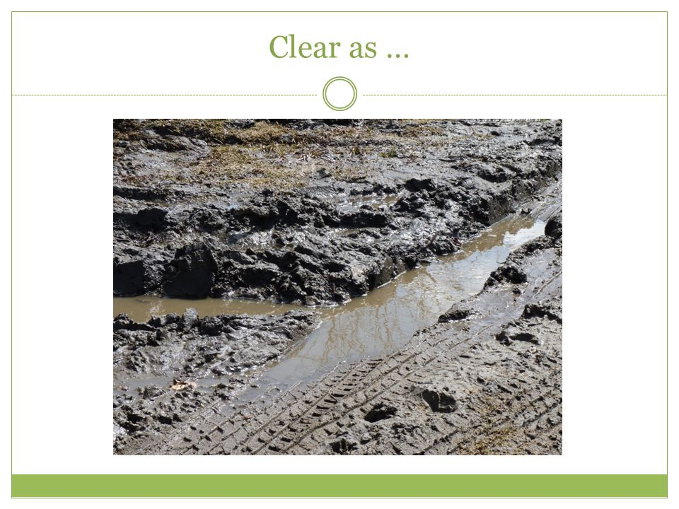 Clear as …