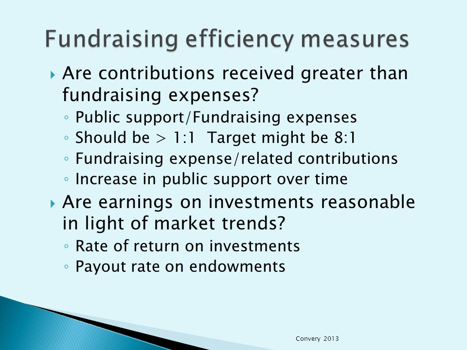  Are contributions received greater than fundraising expenses.
