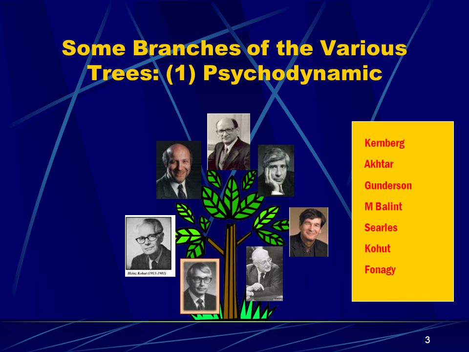 2 Major Psychotherapeutic Approaches Psychodynamic//psychoanalytically informed Cognitive-Behavioral (including approaches that are primarily cognitive; others, primarily behavioral; others – blending the two Supportive