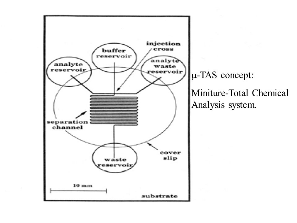  -TAS concept: Miniture-Total Chemical Analysis system.