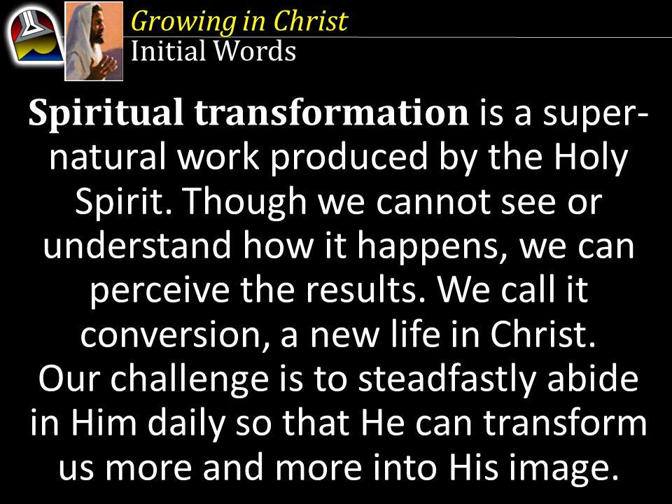 Growing in Christ Quick Look 1.Born Again (John 3:3-5 ) 2.