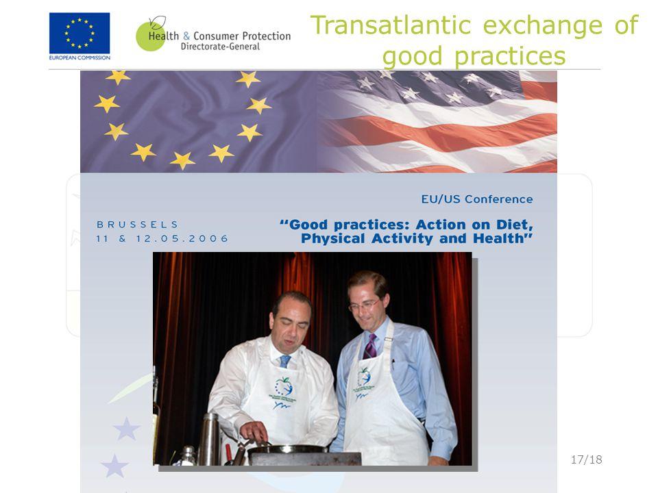 17/18 Transatlantic exchange of good practices