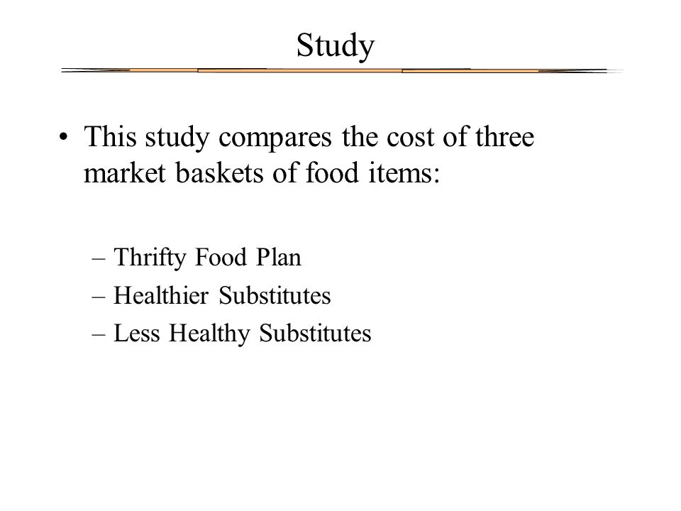 Thrifty Food Plan (TFP) Developed to show how food stamp recipients can meet the recommendations of the Food Pyramid Guidelines on their monthly food stamp allocations.
