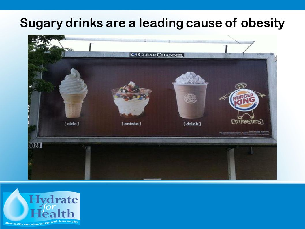 Sugary drinks are a leading cause of obesity