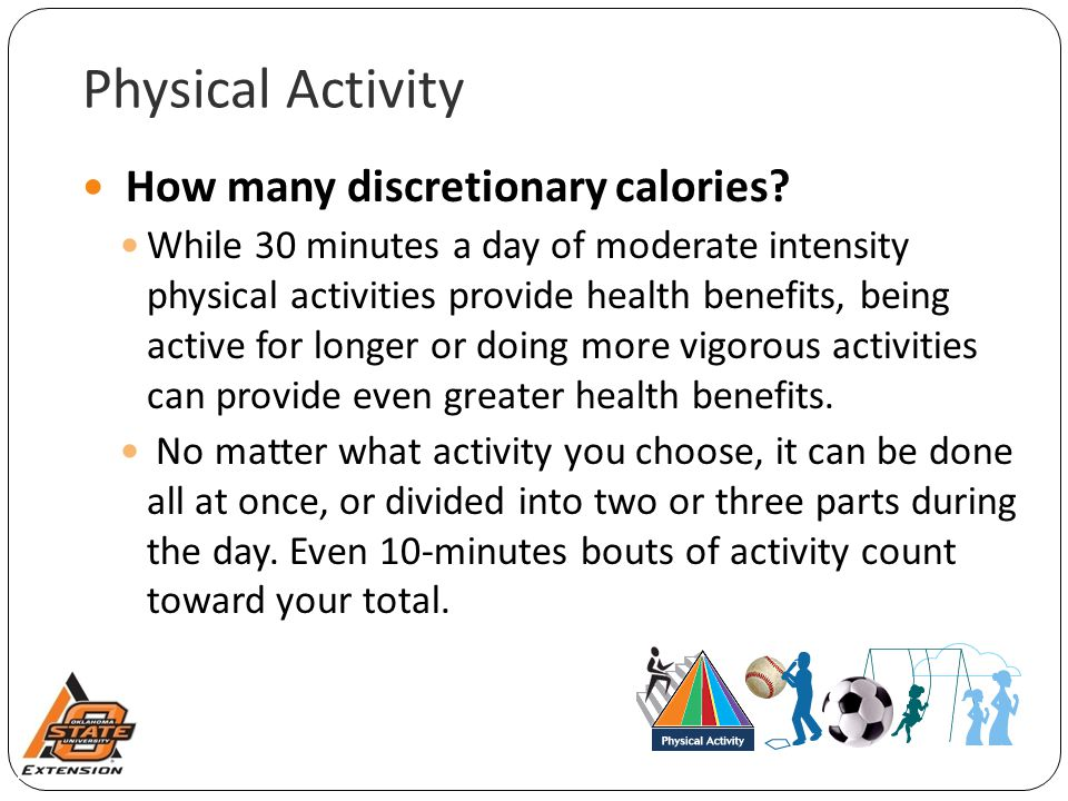 Physical Activity How many discretionary calories.