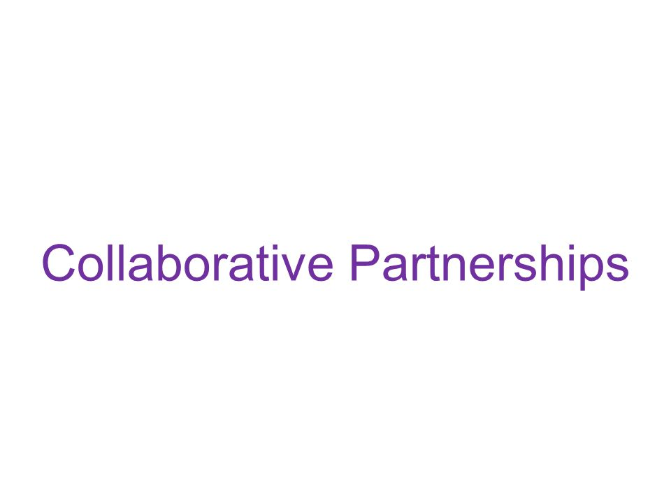 Collaborative Partnerships