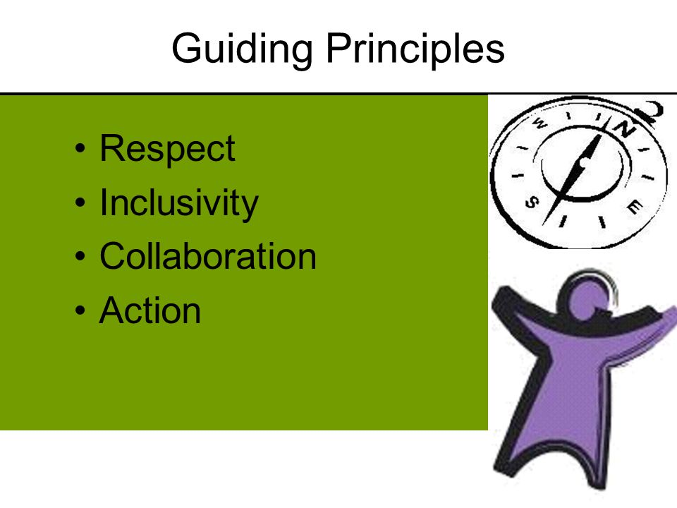 Guiding Principles Respect Inclusivity Collaboration Action