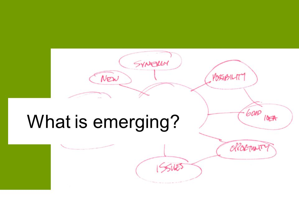 What is emerging?