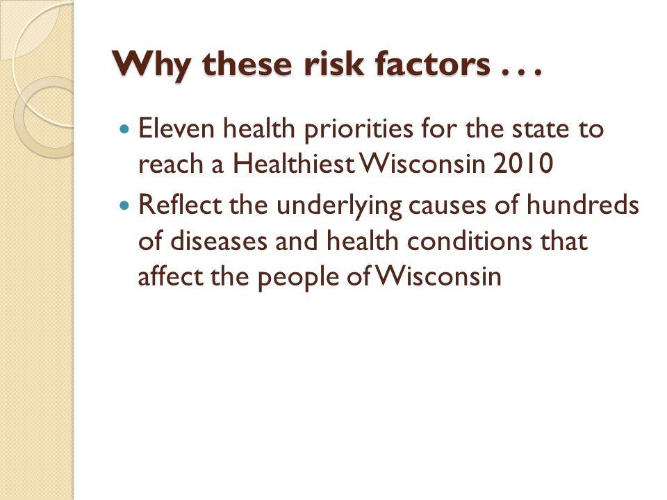 Why these risk factors... Why these risk factors...