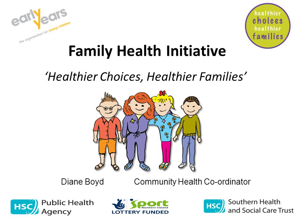 Family Health Initiative 'Healthier Choices, Healthier Families' Diane Boyd Community Health Co-ordinator