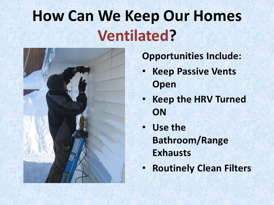How Can We Keep Our Homes Ventilated.