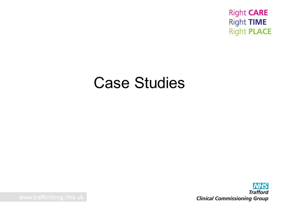 Case Studies www.traffordccg.nhs.uk