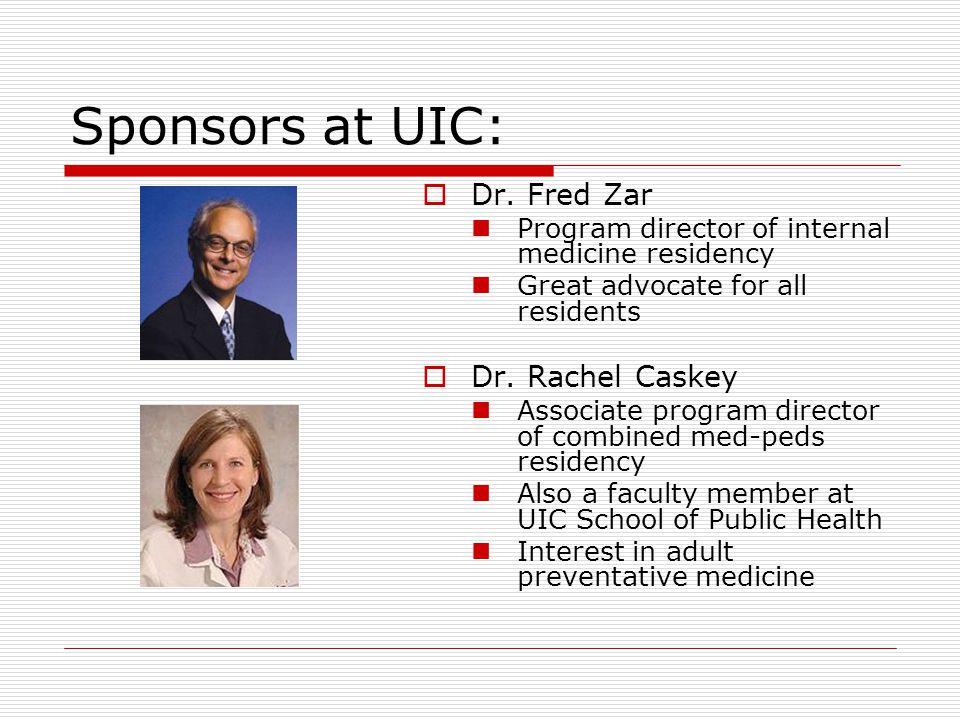 Sponsors at UIC:  Dr.