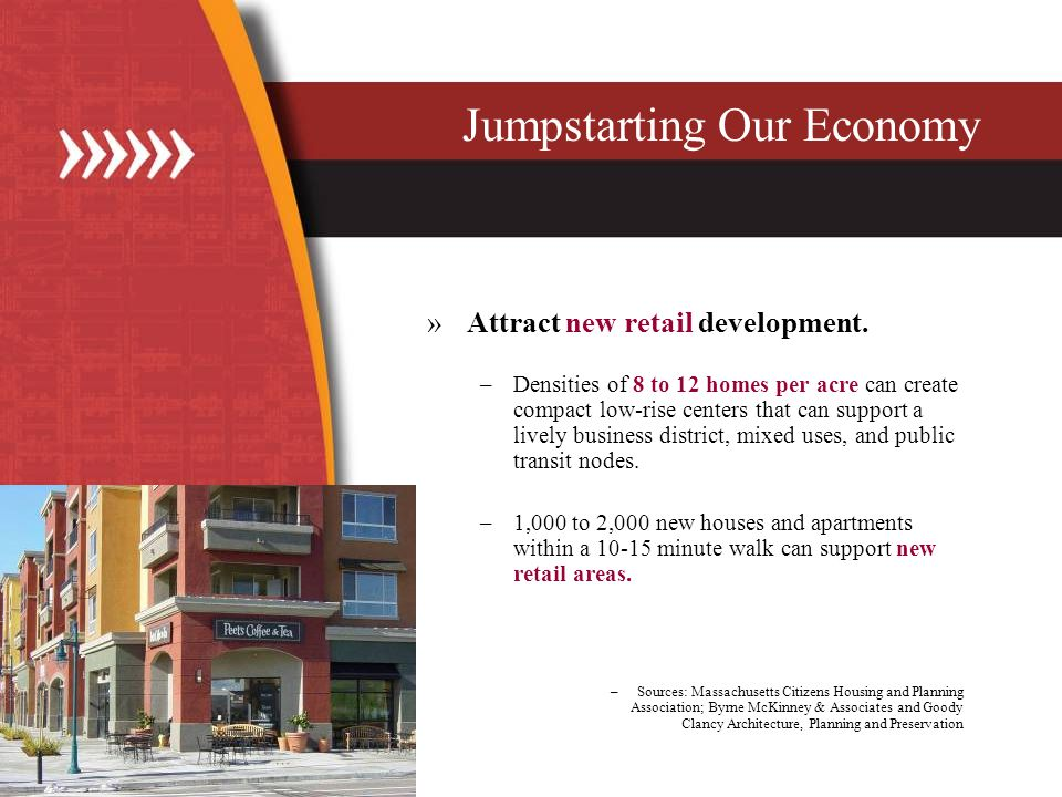»Attract new retail development.