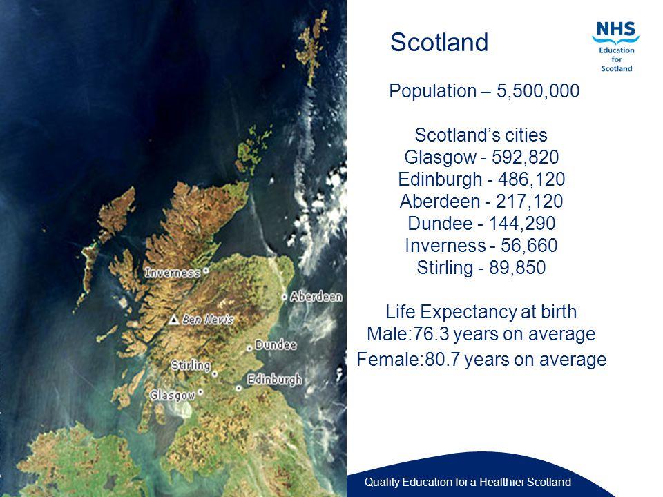 Quality Education for a Healthier Scotland Scottish Parliament - Holyrood Edinburgh