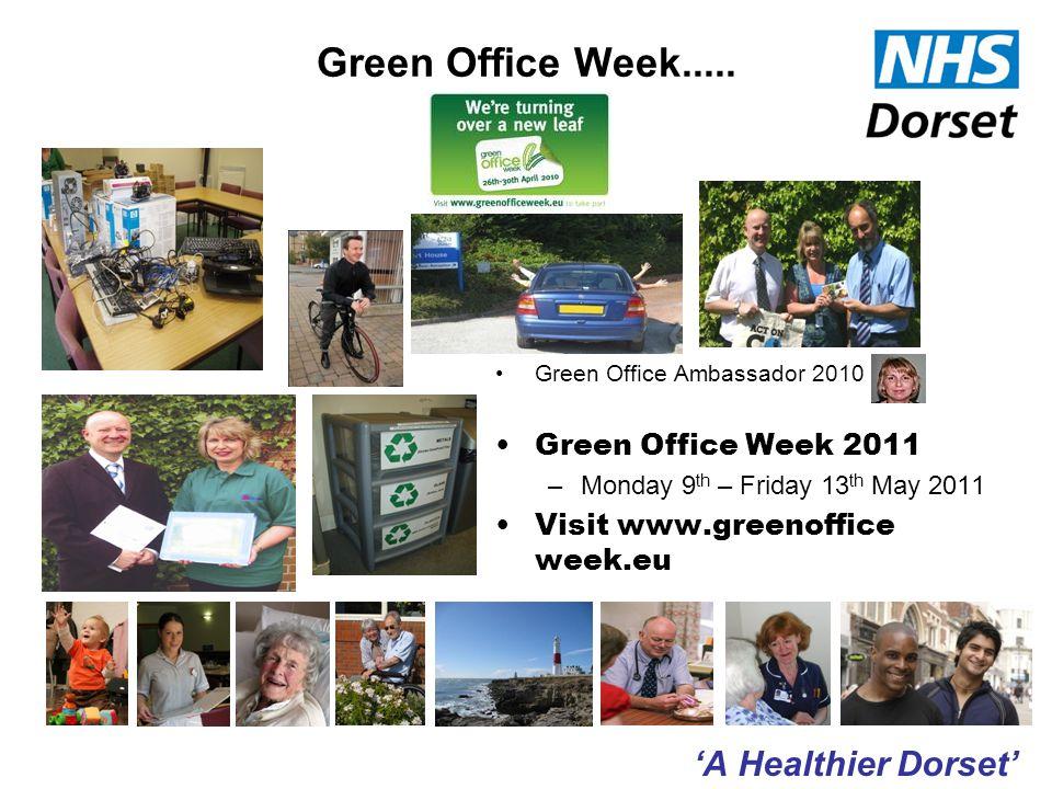 'A Healthier Dorset' Green Office Week.....