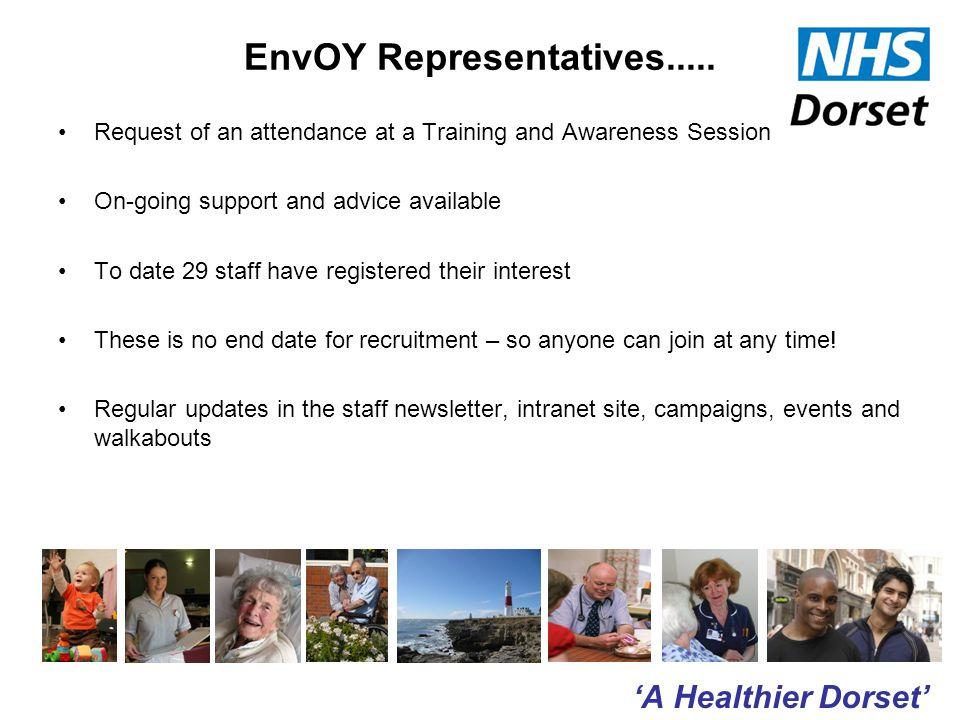'A Healthier Dorset' EnvOY Representatives.....