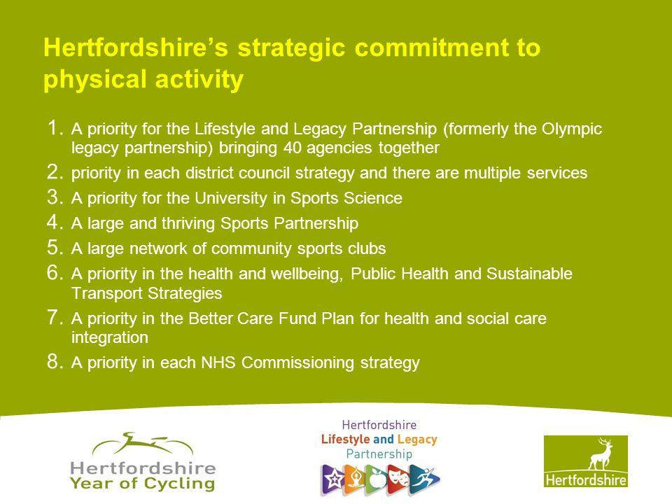 www.hertsdirect.org Hertfordshire's strategic commitment to physical activity 1.