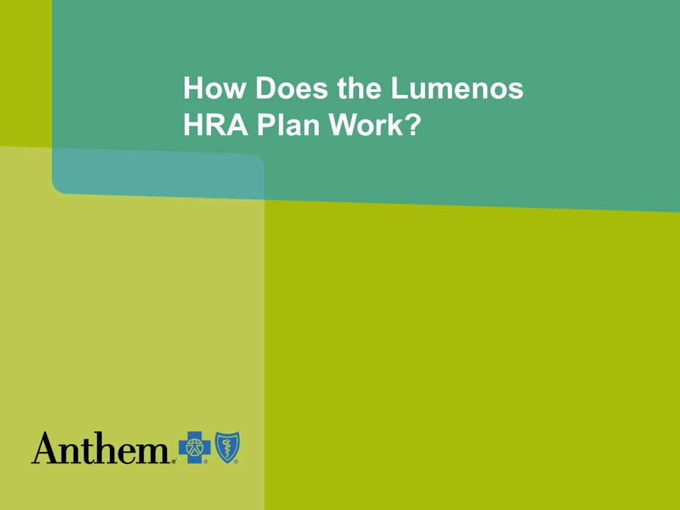 How Does the Lumenos HRA Plan Work