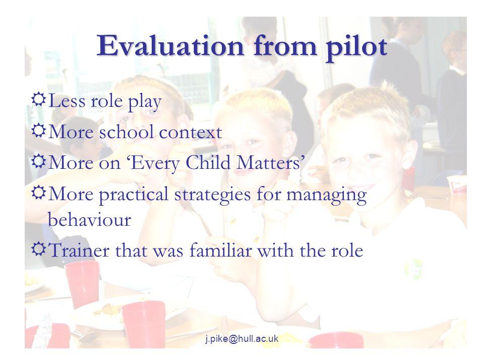 j.pike@hull.ac.uk Course Materials  'School Mentor' Pack  Trainer Workbook  Trainee Workbook  CD Rom