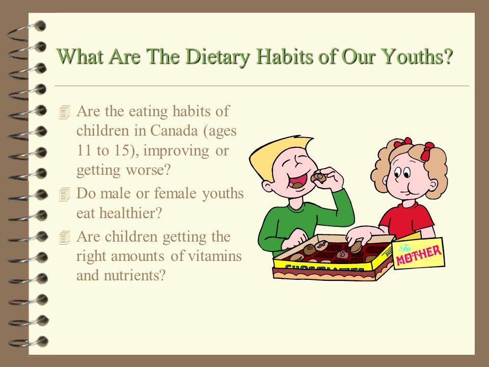 Dietary Habits of Our Youths By: Bronwyn Furlong MDM4U Presented to: Miss Abi-Zeid Hillcrest High School