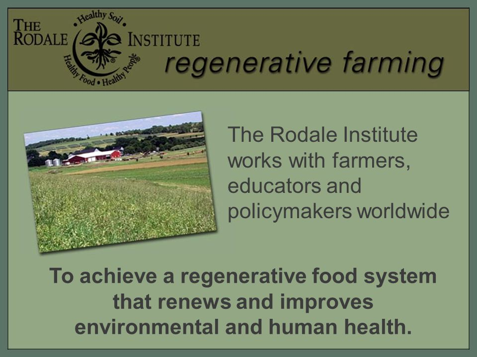 The environment benefits from regenerative farming through… Less carbon dioxide in the atmosphere.