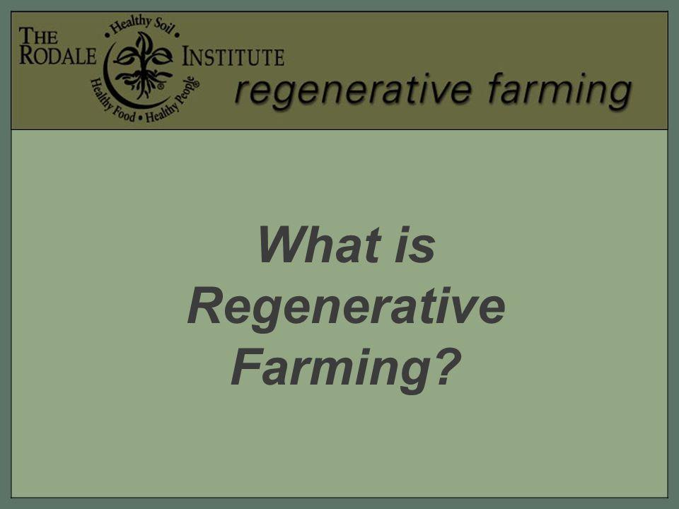 What is Regenerative Farming