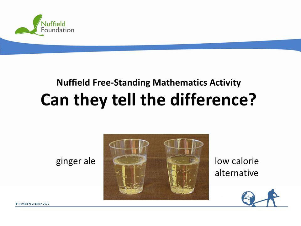 © Nuffield Foundation 2012 © Rudolf Stricker Nuffield Free-Standing Mathematics Activity Can they tell the difference.