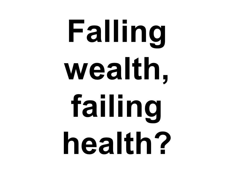 Falling wealth, failing health