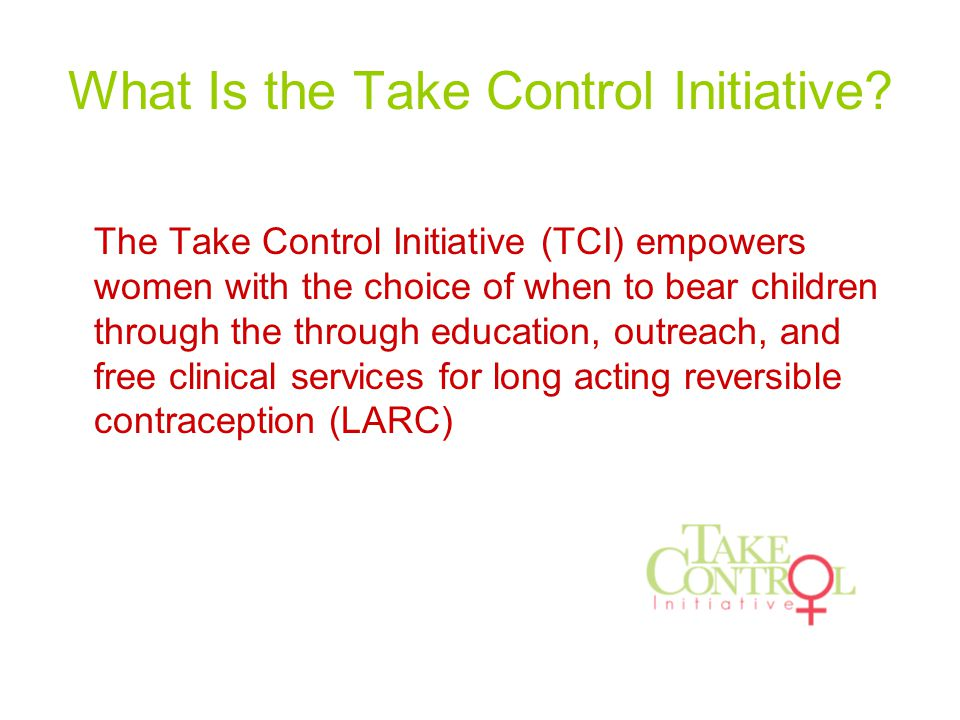 What Is the Take Control Initiative.
