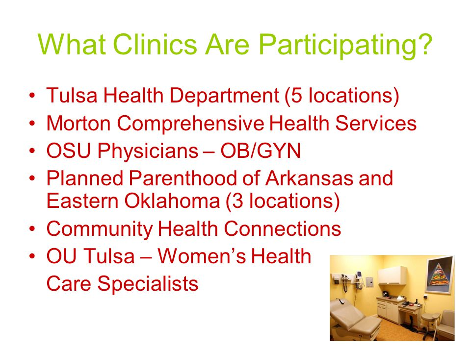 What Clinics Are Participating.