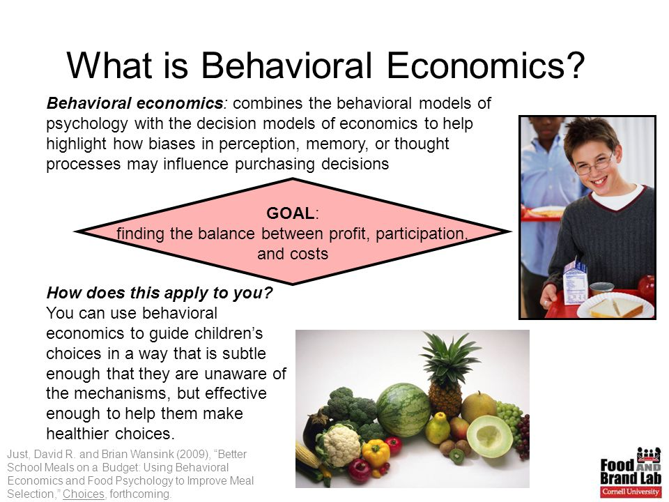 What is Behavioral Economics. Just, David R.
