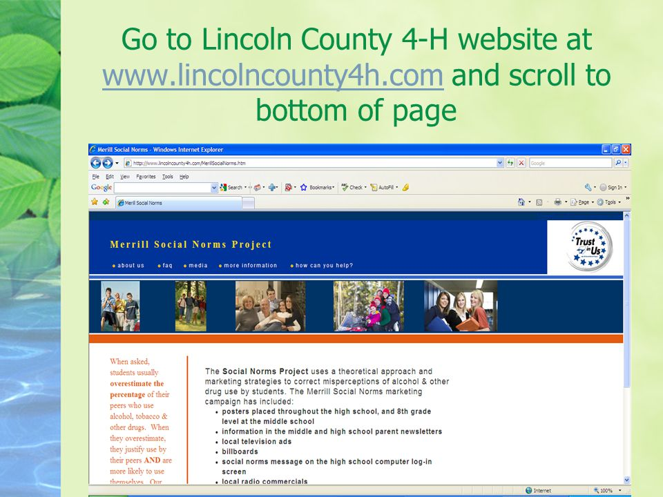 Go to Lincoln County 4-H website at www.lincolncounty4h.com and scroll to bottom of page www.lincolncounty4h.com