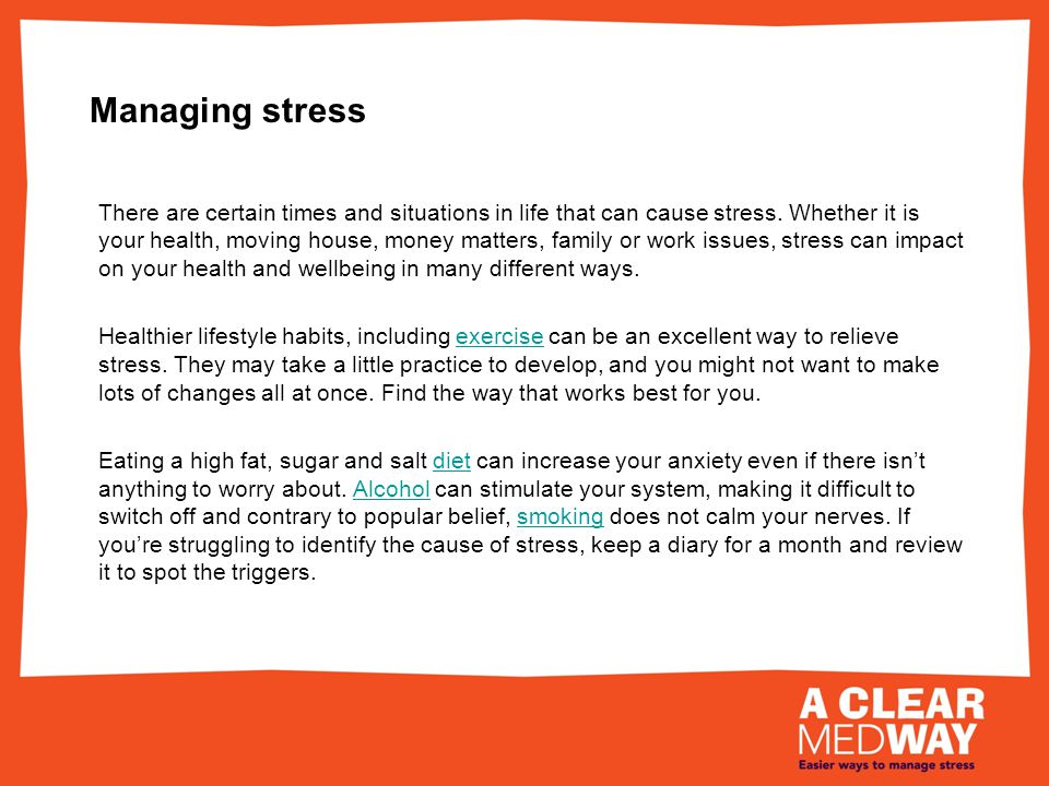 Managing stress – the five ways to wellbeing Connect - With the people around you.
