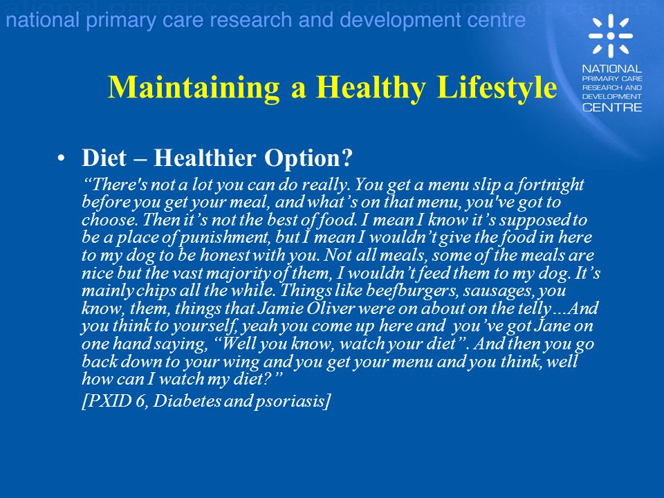 Maintaining a Healthy Lifestyle Diet – Healthier Option.