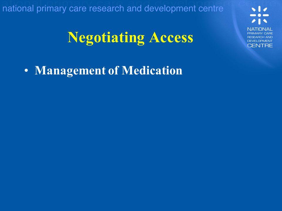 Negotiating Access Management of Medication
