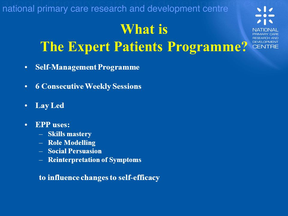 What is The Expert Patients Programme.