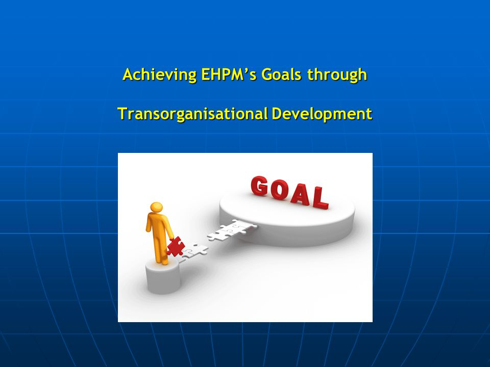 Achieving EHPM's Goals through Transorganisational Development