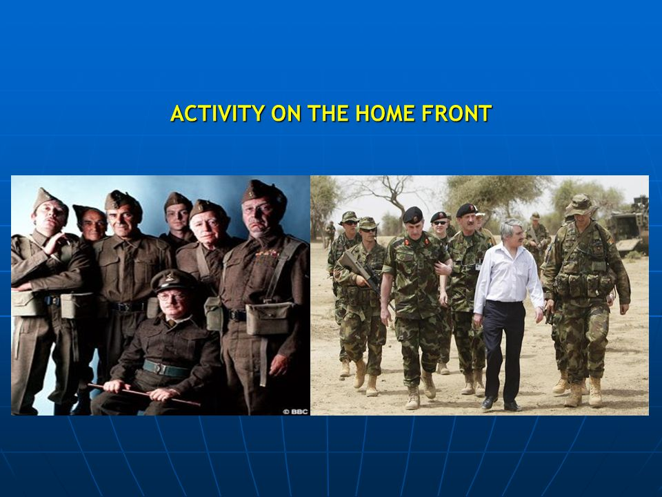 ACTIVITY ON THE HOME FRONT