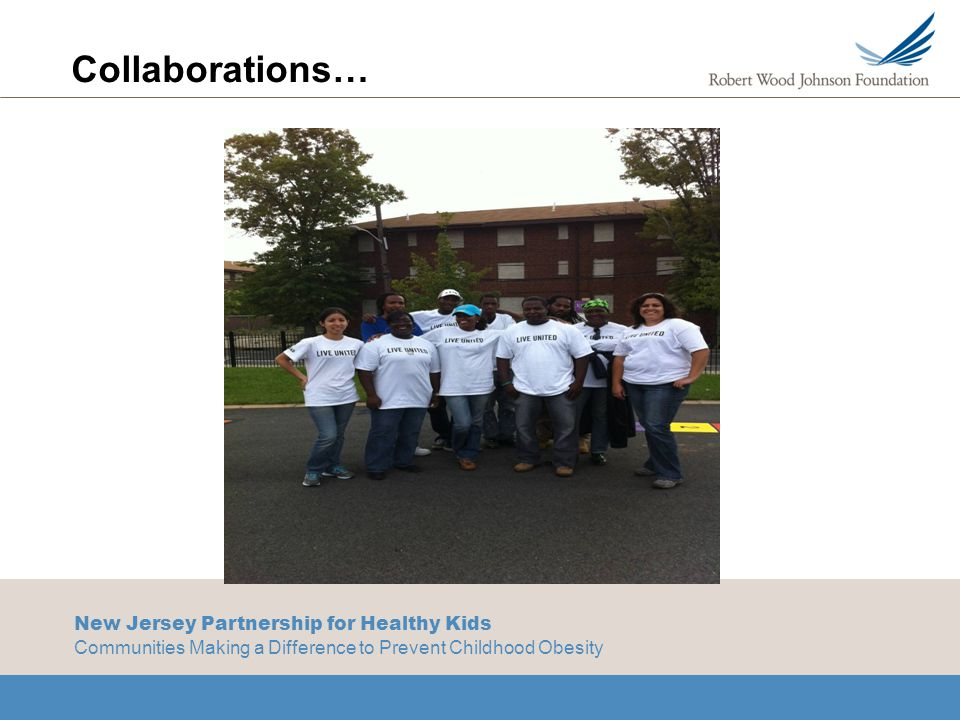 New Jersey Partnership for Healthy Kids Communities Making a Difference to Prevent Childhood Obesity Collaborations…